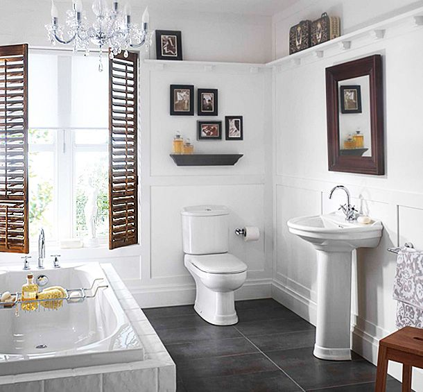 Small White Bathroom with Big Features. 17 Best ideas about Small White Bathrooms on Pinterest   Small