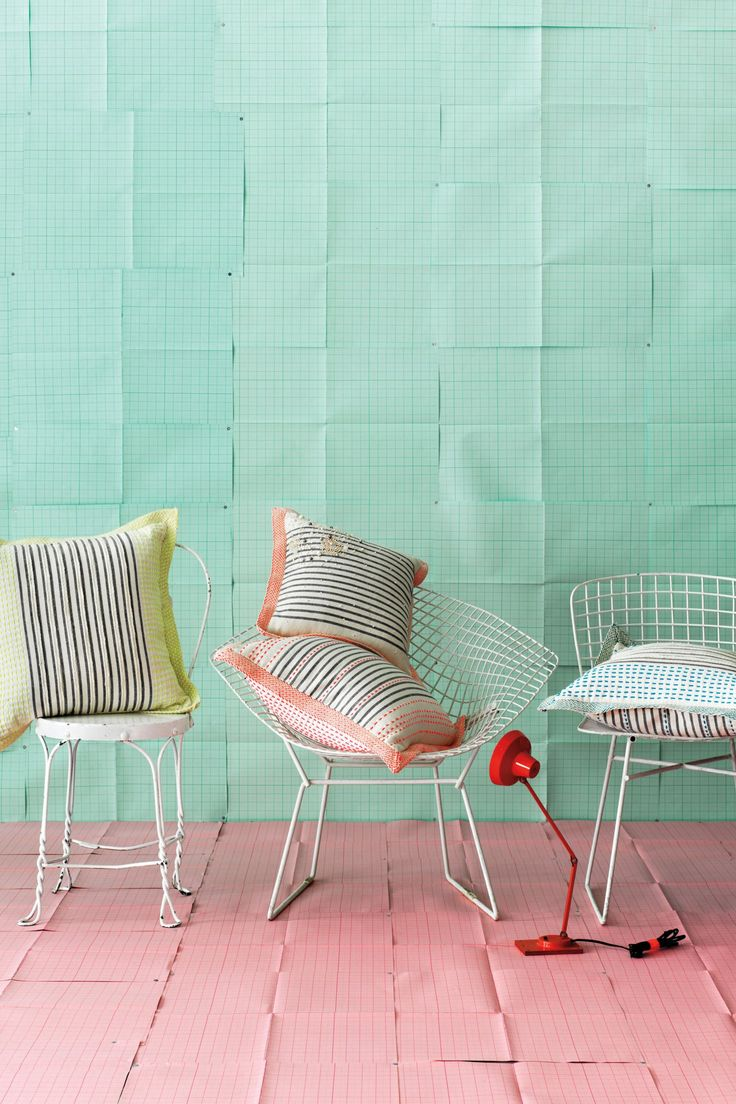 Stitch-Striped Pillow / Anthropologie.com {love everything about this!}