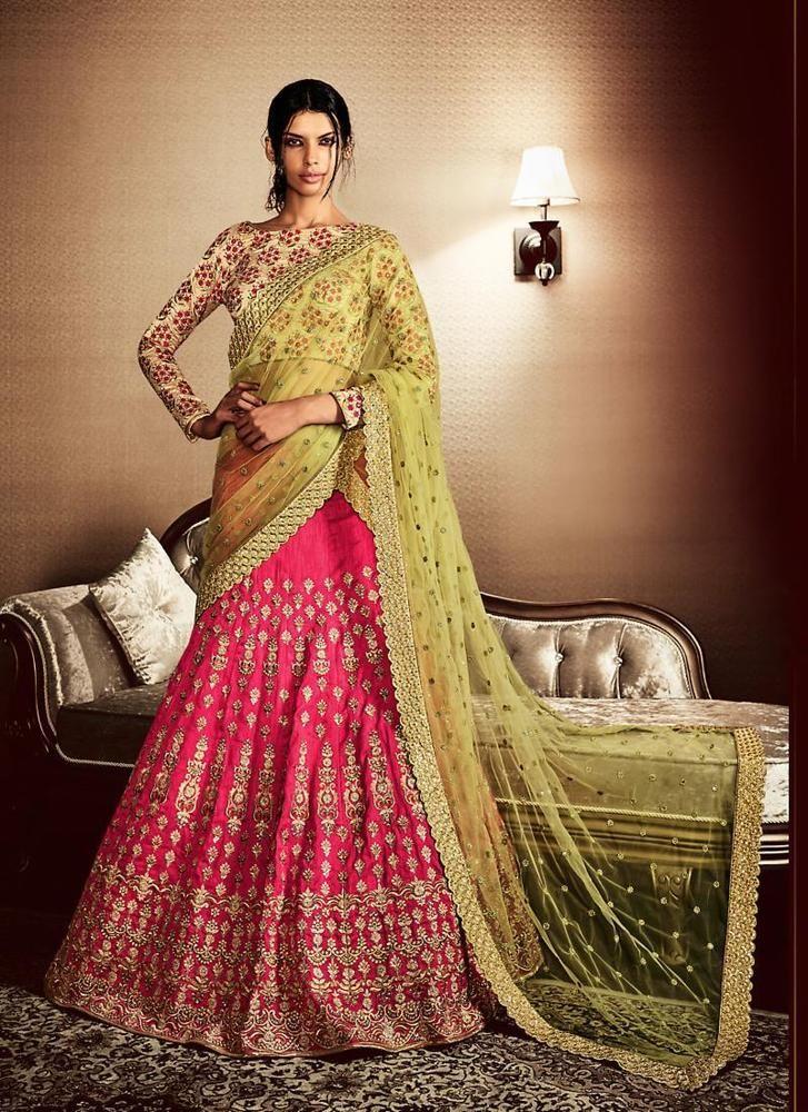 Designer Sari Partywear Bollywood Saree Pakistani Indian Ethnic Dress Wedding #TanishiFashion #LehengaSari