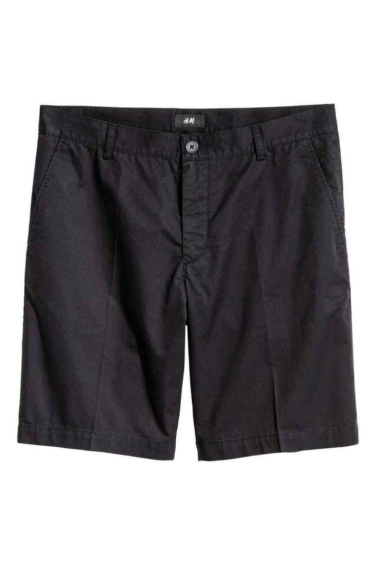 Shorts chinos corti - Nero - UOMO   H&M IT