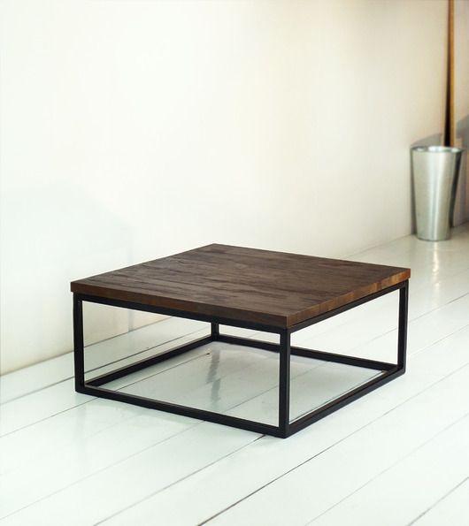 meble - stoły i stoliki-Stolik kawowy ALVAR sosna postarzana