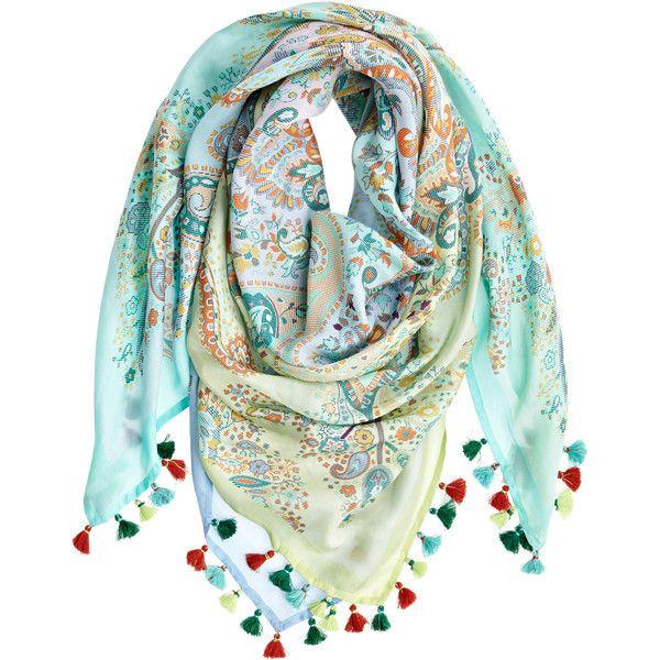 VISMAYA Habutai Paisley Printed Silk Scarf ($175) via Polyvore featuring accessories, scarves, pastel, indian silk scarves, bohemian scarves, colorful shawl, paisley scarves and colorful scarves