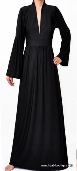 Black maxi dress (Hijabi Boutique)