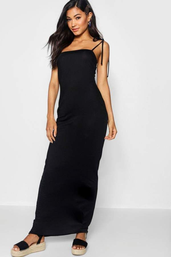 29ae3dad03e US  8 boohoo Tie Shoulder Jersey Maxi Dress  ShopStyle  shopthelook  ad   sponsored