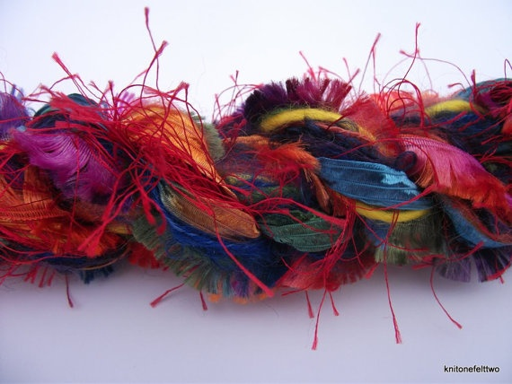 Yarn Pack 45m of gorgeous rainbow fibers by knitonefelttwo on Etsy