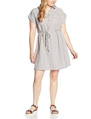 20, Grey (Mid Grey), New Look Curves Women's Linen Short Sleeve Shirt Dress NEW