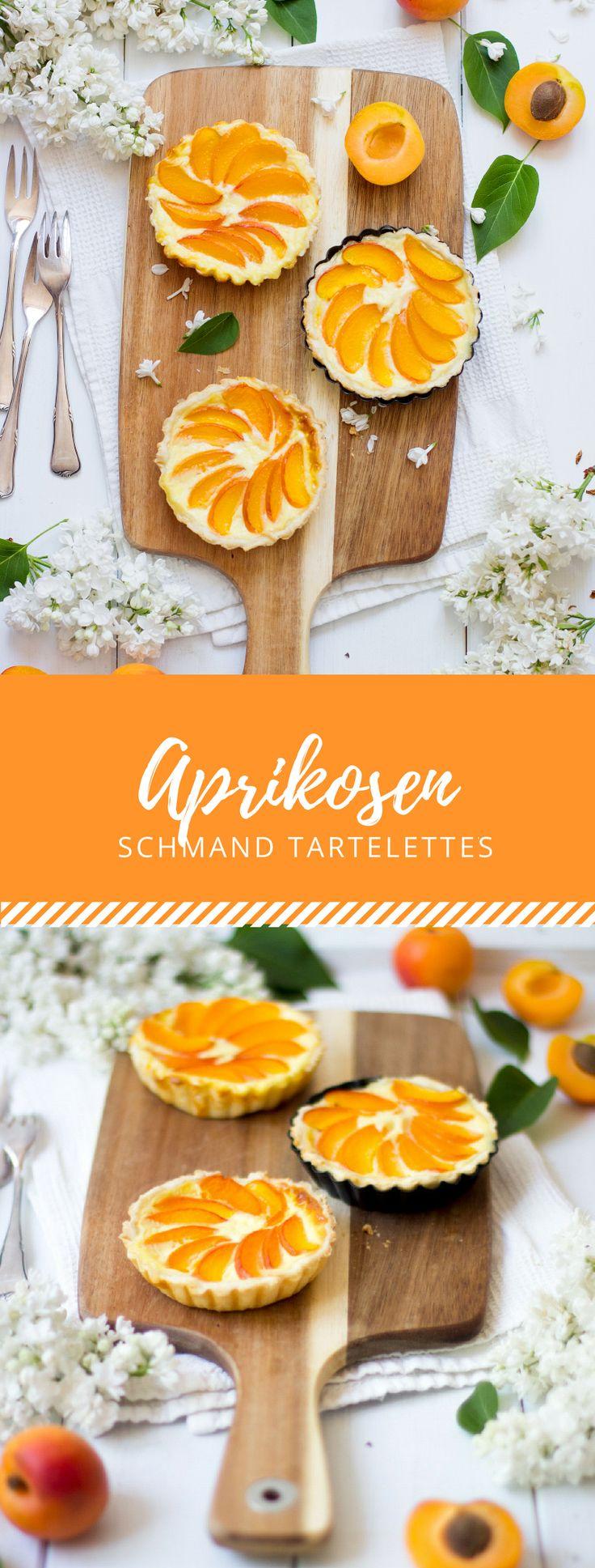 Der Sommer kleidet sich dieses Jahr in leckeren Aprikosen Schmand Tartelettes! Super süß und saftig mit diesem Rezept.