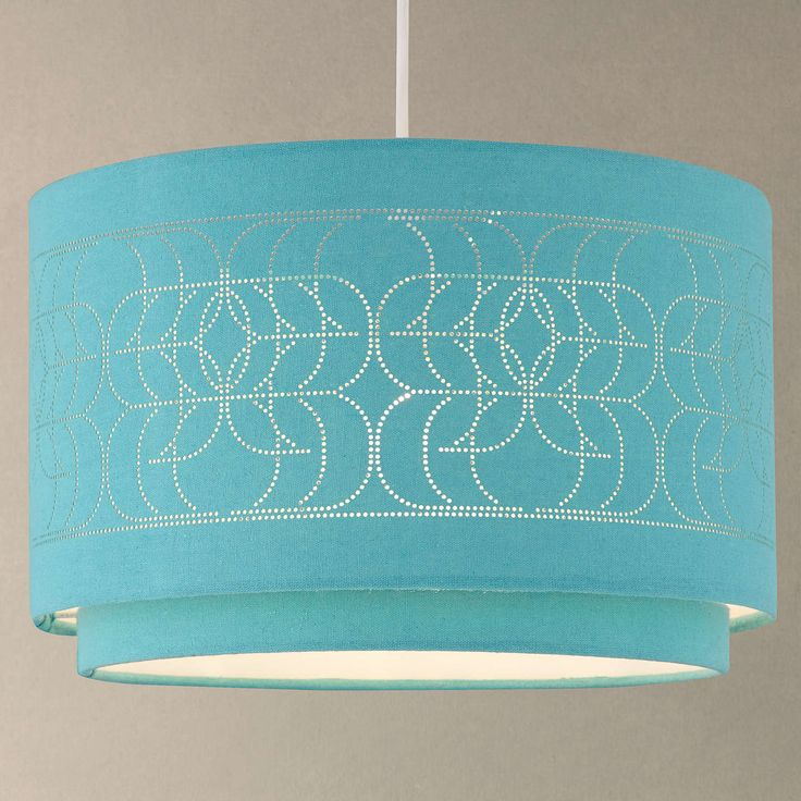 BuyJohn Lewis Easy-to-fit Arvid Ceiling Shade, Teal Online at johnlewis.com