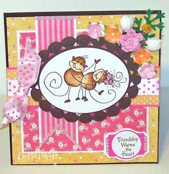 Monkey Fun by Linda Palmer - Cards and Paper Crafts at Splitcoaststampers