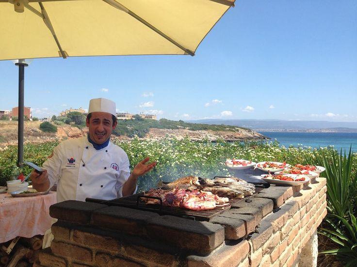 Il nostro Chef e le delizie della griglia!!