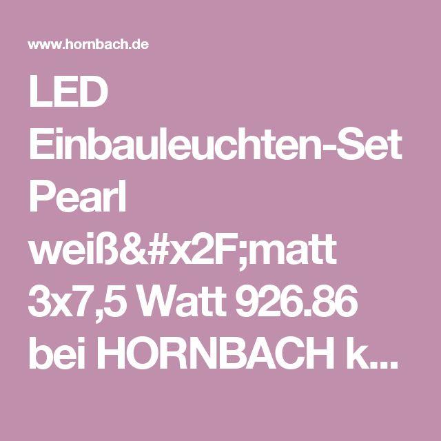 Vintage LED Einbauleuchten Set Pearl wei matt x Watt bei HORNBACH kaufen