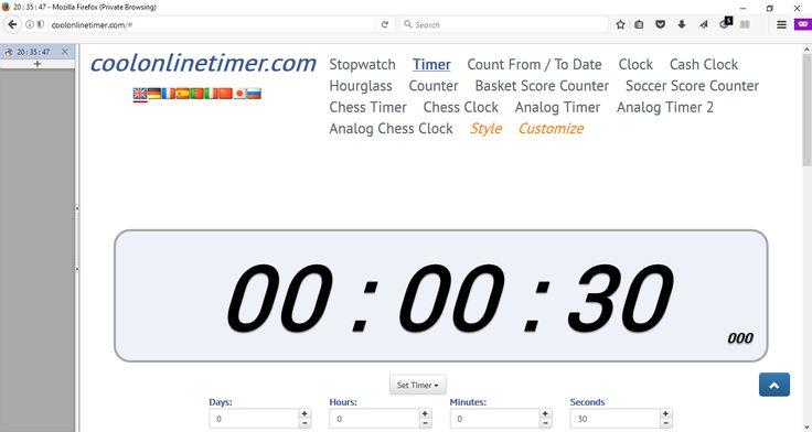http://coolonlinetimer.com Free #Online #Timer #Stopwatch #Countdown #Clock #Alarm #Hourglass