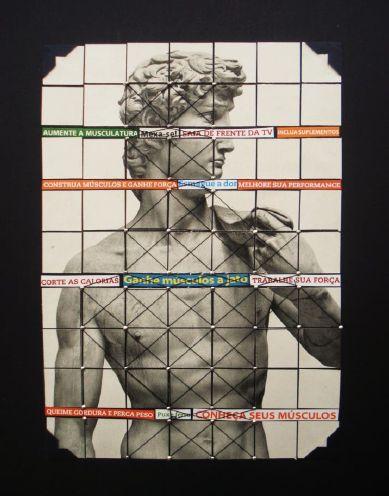Gab Arte k2o art Fabiano Devide.A anatomia de David I. Técnica mista sobre foamboard.29,5x23cm.2010-2011