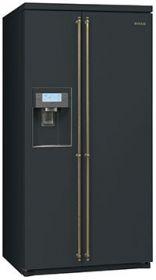 SBS8003AO: Amerkikansicher Kühlschrank mit Spender für Trinkwasser, Eiswürfel und Crushed - Ice. Schauen Sie selbst auf www.smeg.de