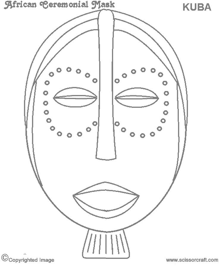 8 best African Masks template images on Pinterest