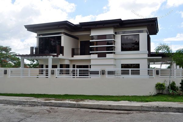 Two Story Luxury House Design With Interior Photos To Inspire You House And Decors House Paint Exterior Zen House Design Modern House Facades