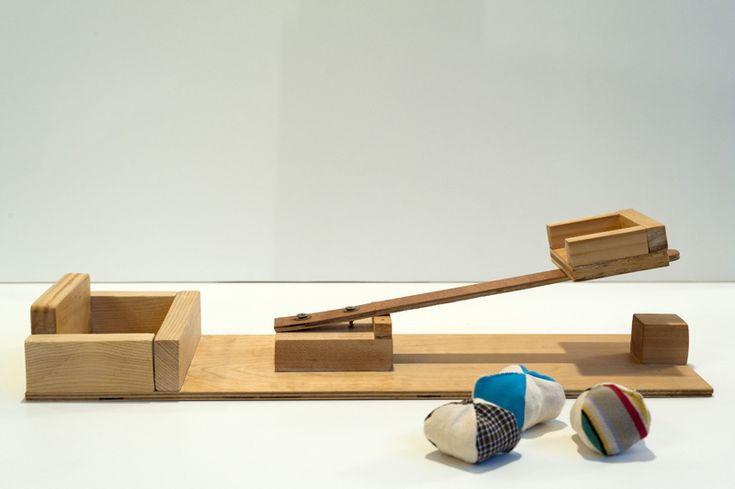 Indoor catapult toy designed by Joel Henriques - great DIY project