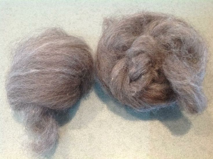Combed after washing and ready to Felt or spin.
