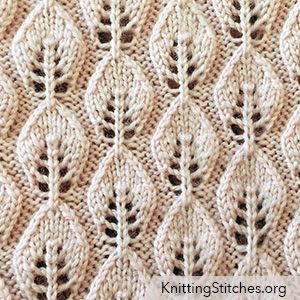 Embossed Leaf Lace stitch, I used it for other projects, such as scarves, hats, pillows and blankets.