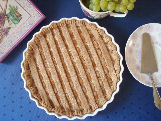Rhubarb Lattice Pie   Rebarborový mřížkový koláč - www.vune-vanilky.cz