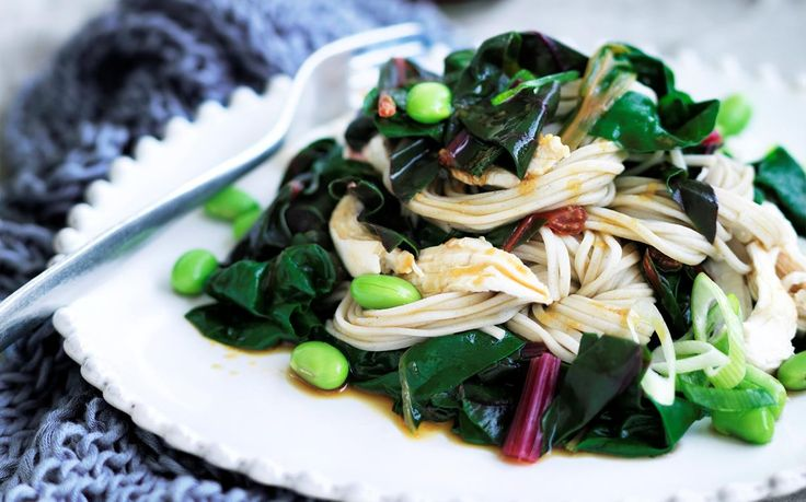 One−pot poached chicken with soba noodles recipe - By Australian Women's Weekly, Fresh, simple and nourisihing. This one−pot wonder with wholesome poached chicken and soba noodles makes the perfect dinner idea for the cooler nights. Suitable for the 2-Day Fast Diet.