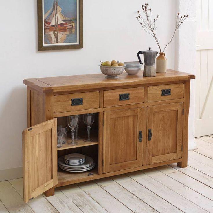 Original Rustic Solid Oak Large Sideboard - Oak Sideboards - Sideboards - Shop by Product