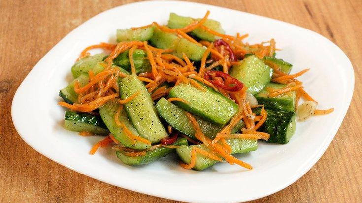 Пряные корейские салаты