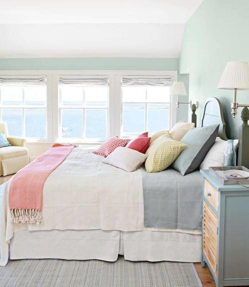 Podes dar una nota de color con almohadones mantas pie - Alfombras pie de cama ...