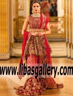 Look Amazing For Your Next Special Wedding Occasion Wearing This Bridal Peplum Gown By Umsha Uzma Babar Fabulous Dresses