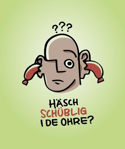 Häsch Schüblig i de Ohre? Illustration for the exhibition «Die Wurst» in the Museum «Mühlerama» in Zurich // www.lukas-gerber.ch