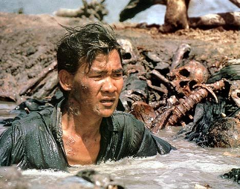 A still from the film The Killing Fields, starring Dith as Haing S Ngor: Dith himself endured four years of starvation and torture under the Khmer Rouge