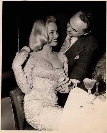 Edward G. Robinson and Mamie Van Doren