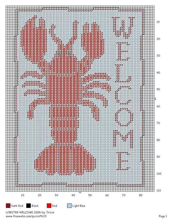 LOBSTER WELCOME SIGN by TRICIA