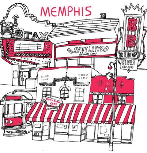 Lovely doodly Memphis illustration