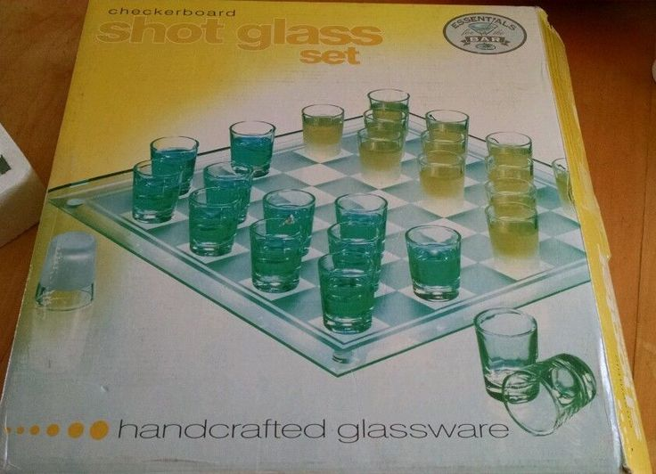 Glass Checkers Set 26 Shot Glass Bar & Drinking Board Game College Game NEW in Toys & Hobbies, Games, Board & Traditional Games | eBay
