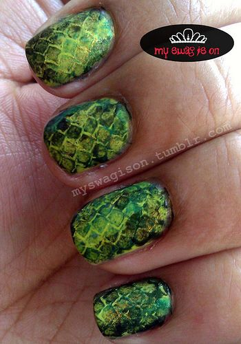 My Swag is On - Nail Art: Snake Print Tutorial