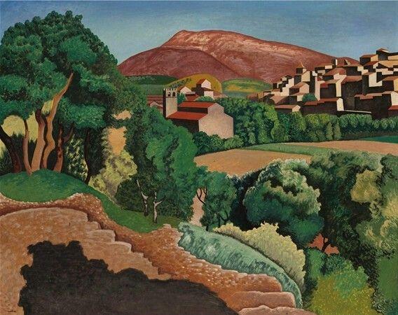 Auguste Herbin. El monte Ventoux en Sainte- rusticule 1924