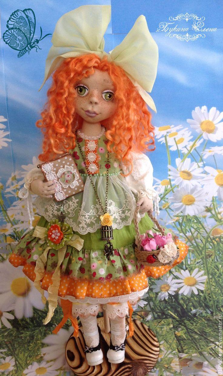 Купить Солнышко - Алёнушка - зеленый, кукла в зеленом ...