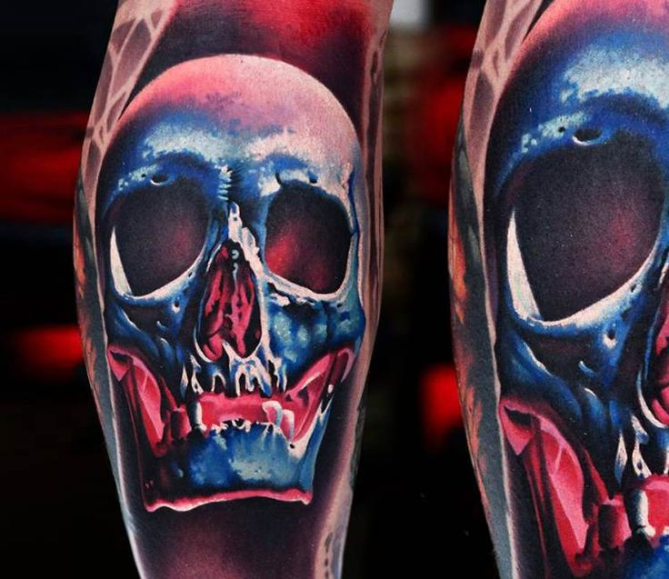 Skull tattoo by A D Pancho