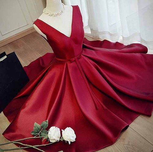 Evening Dresses, Prom Dresses,Party Dresses,Burgundy Homecoming Dress,Homecoming
