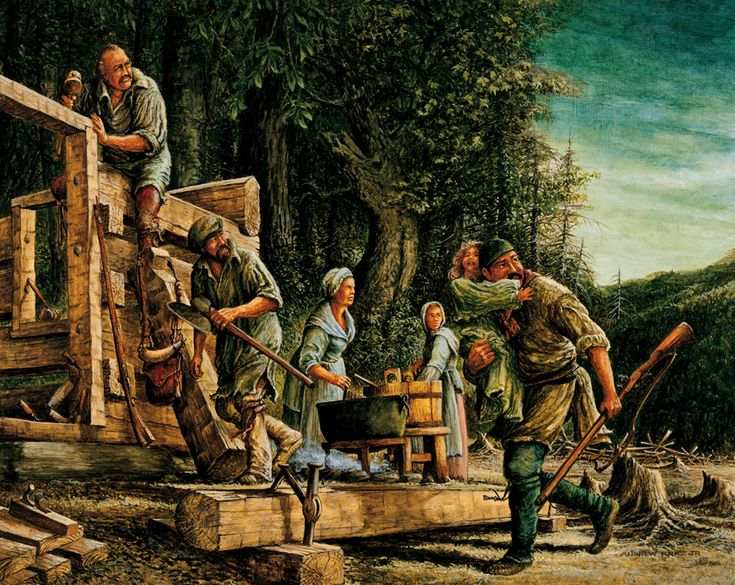 enlargementofalert | Colonial Americans | Historical Art ...