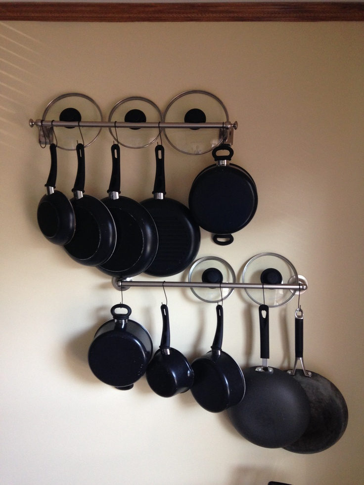 Hanging Pots And Pans On Bathroom Towel Rods! GENIUS! I Grabbed A Few Ideas