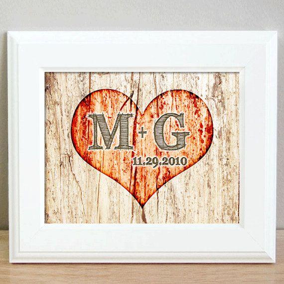 Rustic Wedding Gift  Heart on a Tree print  by KreativeKatsDesigns, $12.00