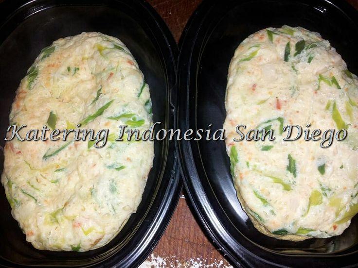 Steamed Egg With Scallions/ Telur Kukus Daun Bawang.