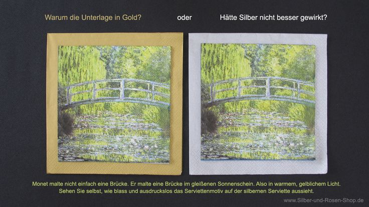 Die optimale Rahmenfarbe für die Monet-Servietten