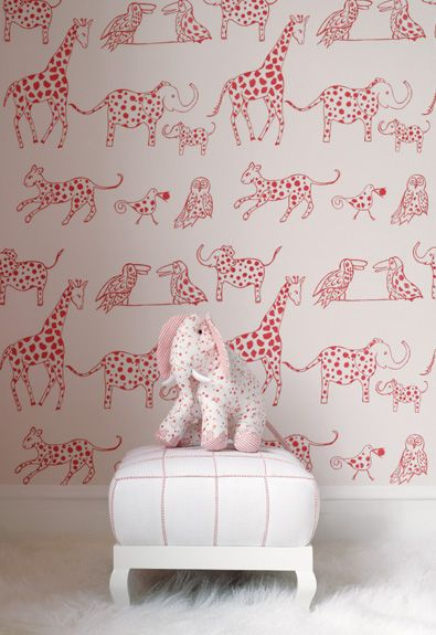 So cute :) Wallpaper is perfect to make the room pop without it being too much! Just as long as it's the right wallpaper :)