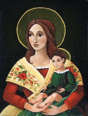 Rebecca Merry, pics of madonnas inspired by the south of France.  Michaelhouse Centre.  30 Sept-12 Oct 2013