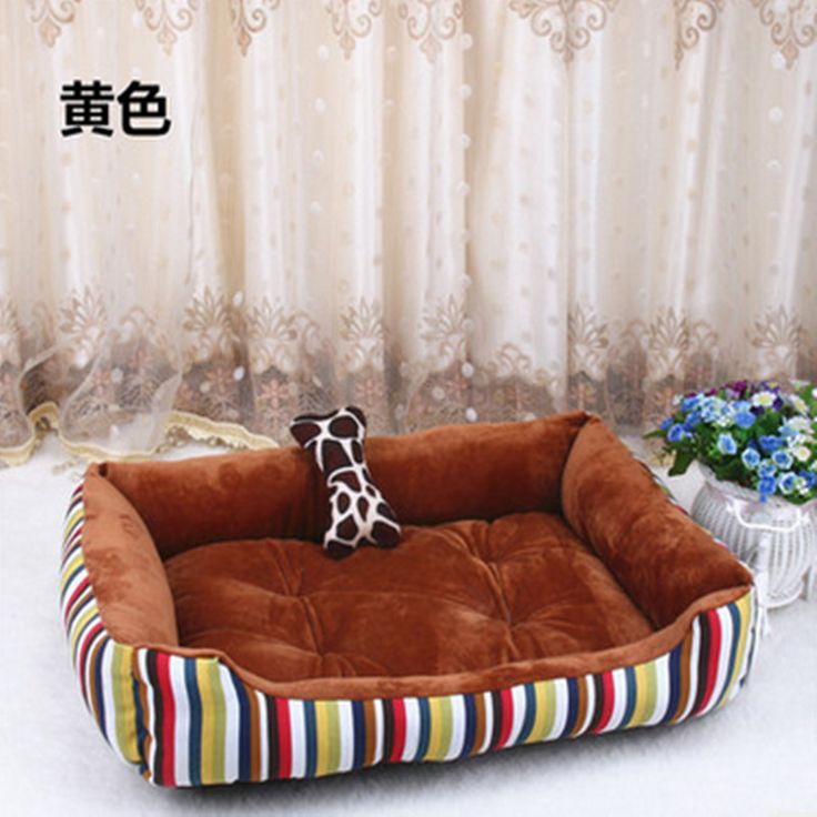 Free shipping + comfortable cotton sofa bed small big dog kennel dogs and cats stripe pet bed can be used for the four seasons