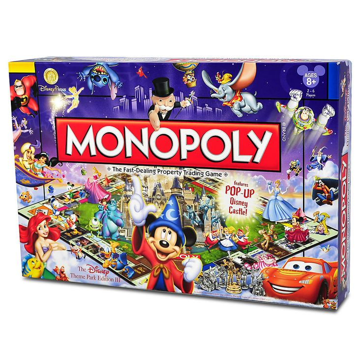 Disney Theme Park Edition III Monopoly Game Fun across the board! Combine the world's most popular theme parks with the world's most popular board game and you'll have the world's most fun! This editi