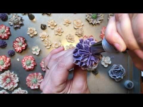 목련꽃 앙금플라워 Magnolia kidney bean paste flower ricecake - YouTube